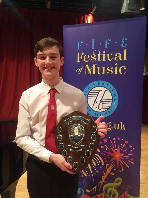 Matthew Cobain, winner of the Lomond Music Shield 2018